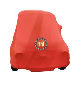 Indoor car cover Fiat 500 Classic with print Maranello Red