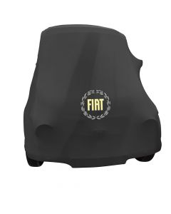 Indoor car cover Fiat 500 Classic with print Berlin Black