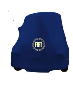 Indoor car cover Fiat 500 Classic with print Le Mans Blue