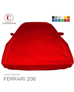 Custom tailored indoor car cover Ferrari 208 with mirror pockets