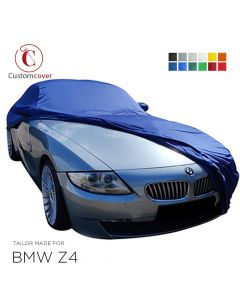 Custom tailored indoor car cover BMW Z4 with mirror pockets