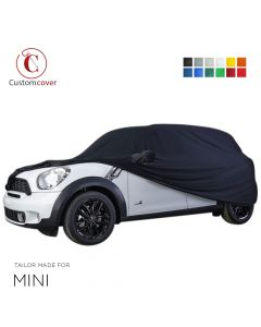 Custom tailored indoor car cover Mini Countryman with mirror pockets