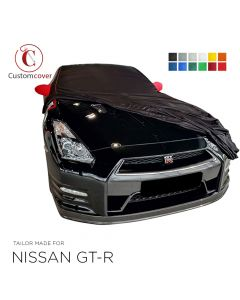 Custom tailored indoor car cover Nissan GT-R with mirror pockets
