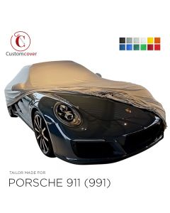 Custom tailored indoor car cover Porsche 911 991 with mirror pockets