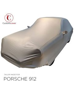 Custom tailored indoor car cover Porsche Urmodell (E, L, S, T & 912) Light Grey with mirror pockets and print