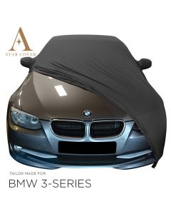 Indoor car cover BMW 3-Series E93 with mirror pockets