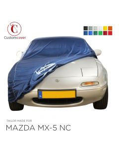 Custom tailored indoor car cover Mazda MX-5 NA with mirror pockets