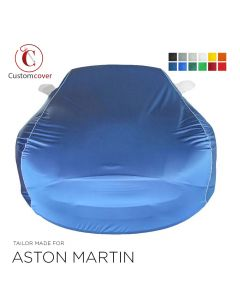 Custom tailored indoor car cover Aston Martin Vantage with mirror pockets