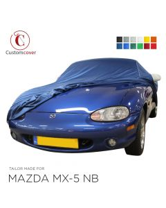 Custom tailored indoor car cover Mazda MX-5 NB with mirror pockets