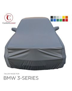 Custom tailored indoor car cover BMW 3-Series with mirror pockets