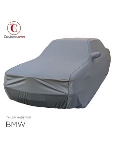 Custom tailored indoor car cover BMW 5-Series with mirror pockets