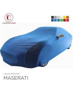 Custom tailored indoor car cover Maserati Levante with mirror pockets