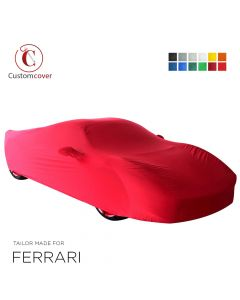 Custom tailored indoor car cover Ferrari 812 Superfast with mirror pockets