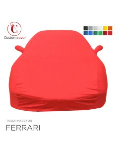 Custom tailored indoor car cover Ferrari 400 with mirror pockets