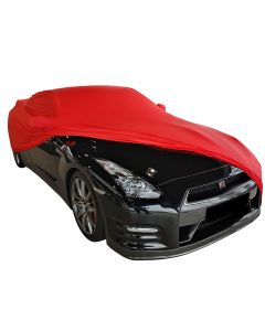 Indoor car cover Nissan GT-R R35 with mirror pockets