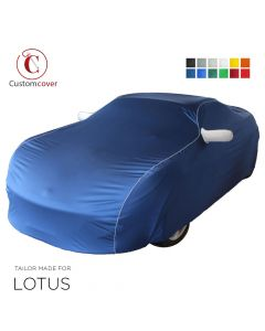 Custom tailored indoor car cover Lotus Elan with mirror pockets