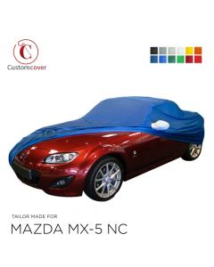 Custom tailored indoor car cover Mazda MX-5 NC with mirror pockets