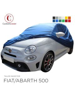Custom tailored indoor car cover Fiat 500 with mirror pockets