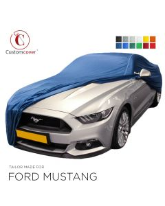Custom tailored indoor car cover Ford Mustang with mirror pockets