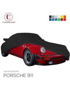 Custom tailored indoor car cover Porsche 911 G-Modell with mirror pockets