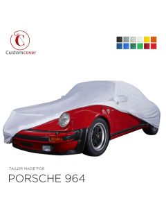 Custom tailored indoor car cover Porsche 964 with mirror pockets