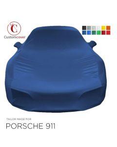 Housse intérieur fait sur mesure Porsche 911 (992) avec manchons de rétroviseurs