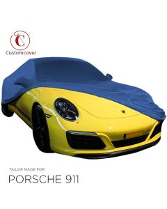 Custom tailored indoor car cover Porsche 911 (997) with mirror pockets