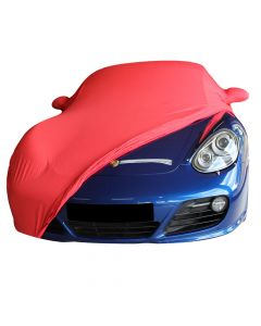 Indoor carcover Porsche Cayman 987 with mirrorpockets