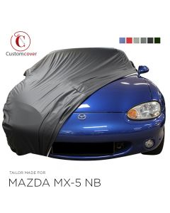 Custom tailored outdoor car cover Mazda MX-5 NB with mirror pockets