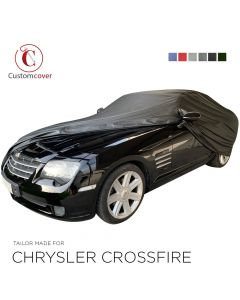 Custom tailored outdoor car cover Chrysler Crossfire with mirror pockets