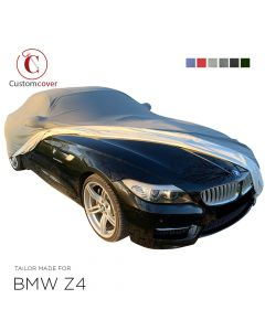 Custom tailored outdoor car cover BMW Z4 with mirror pockets