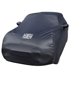 Outdoor car cover Mini Cooper (R55, R56, R57) with mirror pockets and Union Jack print