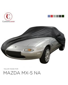 Custom tailored outdoor car cover Mazda MX-5 NA with mirror pockets