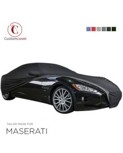Custom tailored outdoor car cover Maserati Ghibli with mirror pockets