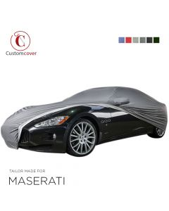 Custom tailored outdoor car cover Maserati Levante with mirror pockets