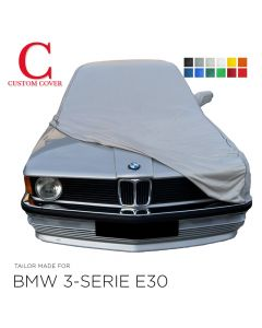 Custom tailored indoor car cover BMW 3-Series E30 with mirror pockets
