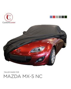 Custom tailored outdoor car cover Mazda MX-5 NC with mirror pockets