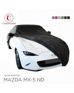 Custom tailored outdoor car cover Mazda MX-5 ND with mirror pockets
