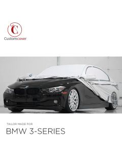 OEM Genuine outdoor car cover BMW 3- series F30 original design view print with mirror pockets