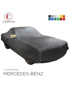 Custom tailored indoor car cover Mercedes-Benz SLK-Class with mirror pockets